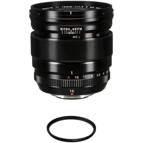 FUJIFILM XF 16mm f/1.4 R WR Lens with UV Filter Kit