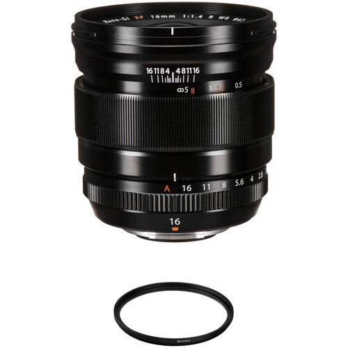 FUJIFILM XF 16mm f/1.4 R WR Lens with Lens Care Kit