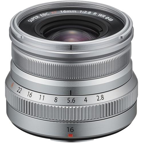 FUJIFILM XF 16mm f/2.8 R WR Lens (Silver)