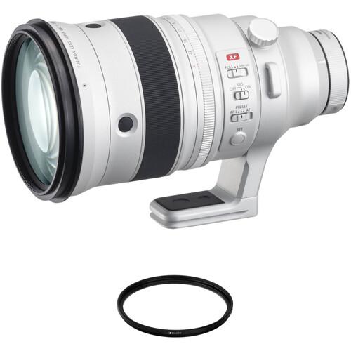 FUJIFILM XF 200mm f/2 R LM OIS WR Lens with XF 1.4x TC F2 WR Teleconverter and UV Filter Kit
