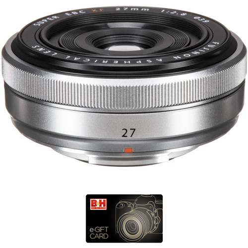 Fujifilm XF 27mm f/2.8 Lens with Gift Card Kit (Silver)