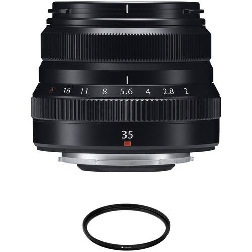 FUJIFILM XF 35mm f/2 R WR Lens with UV Filter Kit (Black)