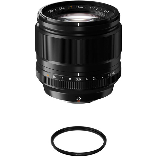 FUJIFILM XF 56mm f/1.2 R Lens with UV Filter Kit