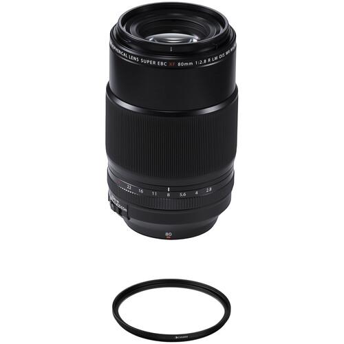 FUJIFILM XF 80mm f/2.8 R LM OIS WR Macro Lens with UV and Circular Polarizer Filters