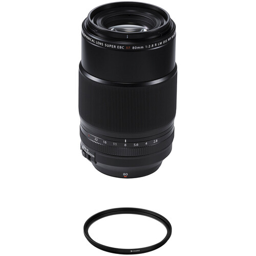 FUJIFILM XF 80mm f/2.8 R LM OIS WR Macro Lens with UV Filter Kit