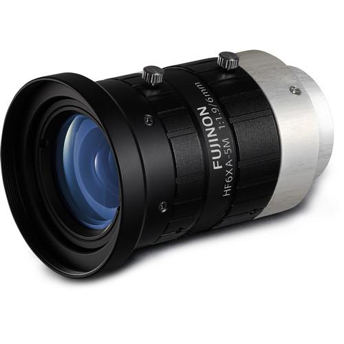 """Fujinon HF6XA-5M 2/3"""" 6.23mm 5MP Machine Vision Lens"""