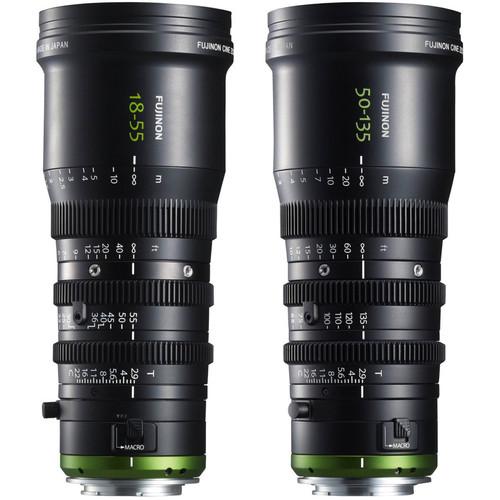 Fujinon MK18-55 & MK50-135 T2.9 Cine-Style Lens Kit (E-Mount)