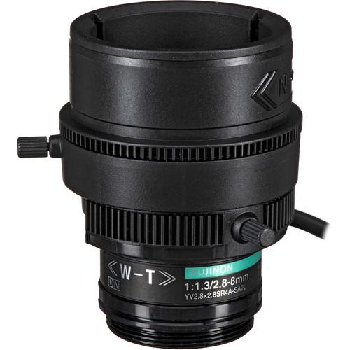 Fujinon YV2.8X2.8SR4A-SA2L CS-Mount 2.8-8mm Varifocal Lens with Long Cable