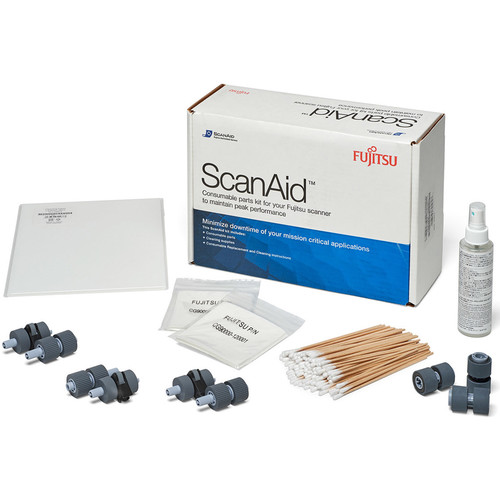 Fujitsu ScanAid Cleaning & Consumables Kit for FI-5650C and FI-5750C