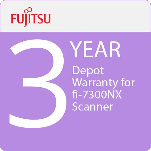 Fujitsu 3-Year Depot Warranty for fi-7300NX Scanner