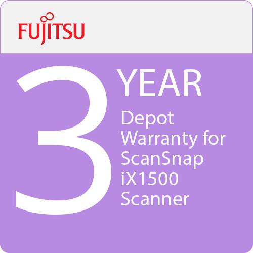 Fujitsu 3-Year Depot Warranty for ScanSnap iX1500 Scanner