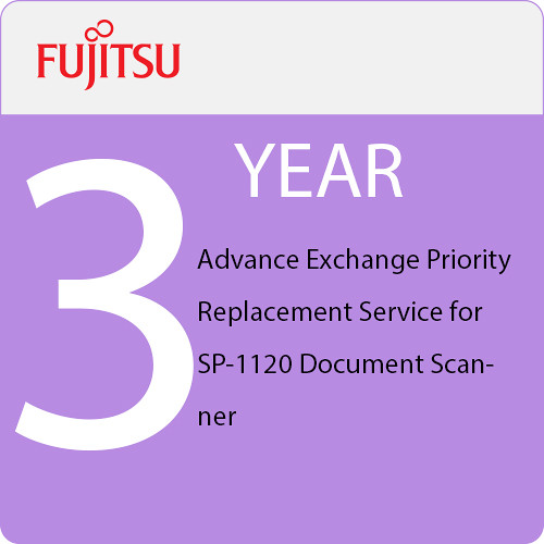 Fujitsu 3-Year Advance Exchange Priority Replacement Service for SP-1120 Document Scanner