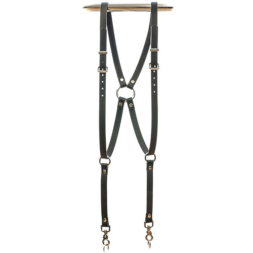Funk Plus Skinny Ring Back Dual-Camera Cowhide Leather Harness (Black)