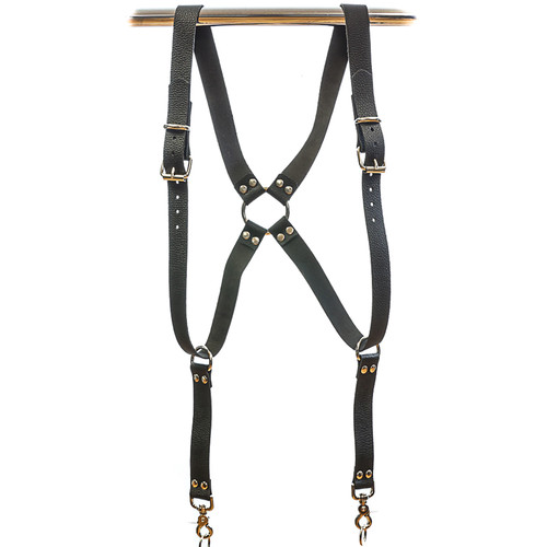 Funk Plus Ring Back Dual-Camera Water Buffalo Leather Harness (Black)