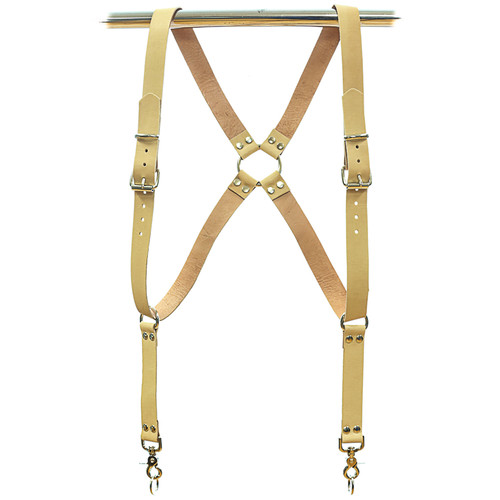 Funk Plus Ring Back Dual-Camera Cowhide Leather Harness (Beige)