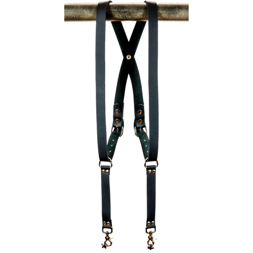 Funk Plus Cowhide Leather Snap Back Camera Harness (Black)