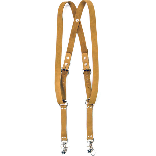 "Funk Plus Suede Leather Snap Back Harness with 1.25"" Wide Straps (Brown)"