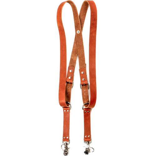 "Funk Plus Water Buffalo Leather Snap Back Harness with 1.25"" Wide Straps (Dark Tan)"