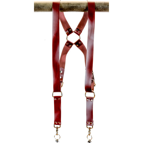 "Funk Plus Latigo Leather Ring Back Harness with 1.5"" Wide Straps (Burgundy)"