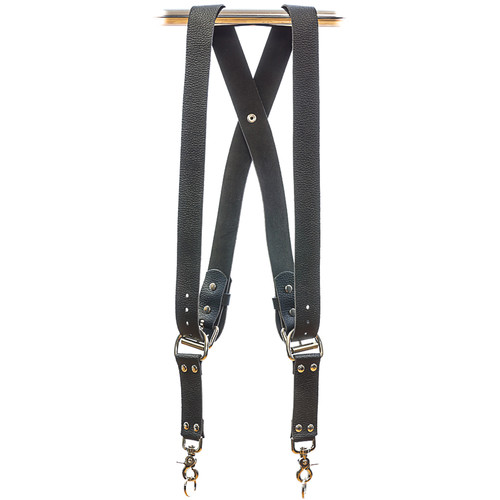 Funk Plus Water Buffalo Leather Snap Back Camera Harness (Black)