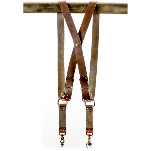 Funk Plus Cowhide Leather Snap Back Camera Harness (Brown)