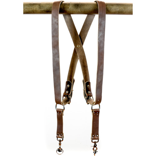 "Funk Plus Water Buffalo Leather Snap Back Harness with 1.5"" Wide Straps (Dark Brown)"
