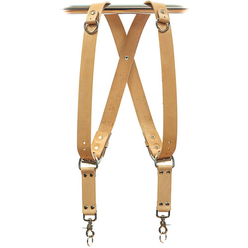 Funk Plus Removable Snap Back Dual/Single-Camera Leather Harness with D-Rings (Beige)