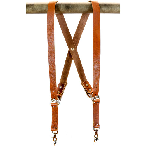 """Funk Plus Water Buffalo Leather Snap Back Harness with 1.5"""" Wide Straps (Dark Tan)"""