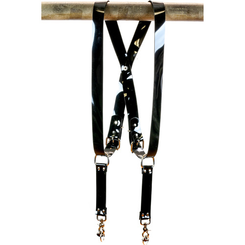 "Funk Plus PVC Vinyl Snap Back Harness with 1.5"" Wide Straps (Black)"