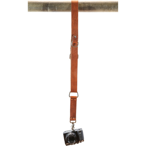 Funk Plus Water Buffalo Leather Shoulder Strap with D-Ring (Dark Tan)