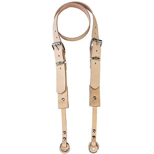 "Funk Plus 1.13"" Double Roller Buckle Leather Camera Strap (Beige)"