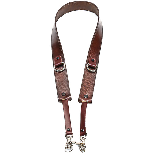 """Funk Plus 1.75"""" Wide Camera Strap with D-Ring (Brown)"""