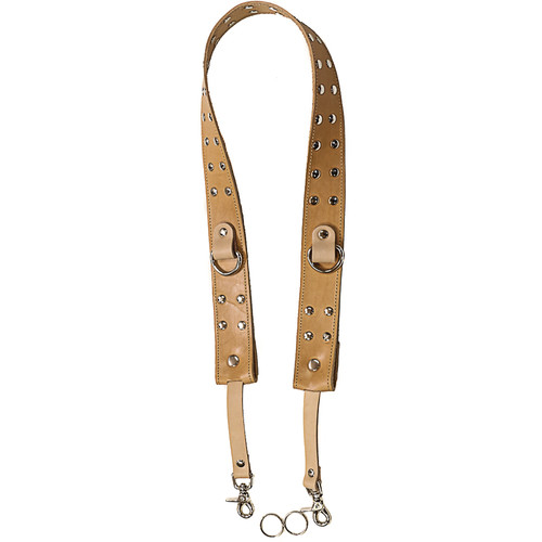 "Funk Plus 1.75"" Wide Camera Strap with D-Ring (Rivet Studded Beige)"
