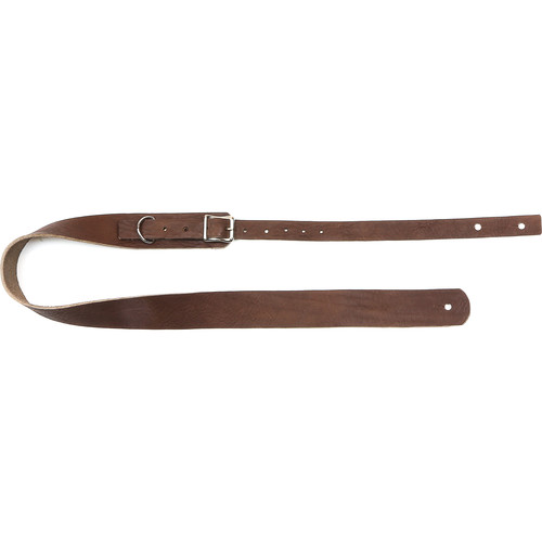 "Funk Plus Classy Genuine Premium Leather Guitar Strap with Buckle (42 to 52"", Dark Brown)"