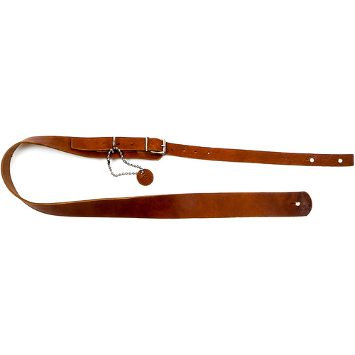 "Funk Plus Classy Genuine Premium Leather Guitar Strap with Buckle (42 to 52"", Dark Tan)"