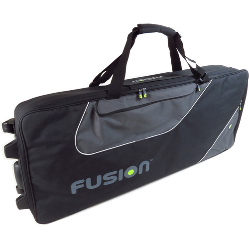 Fusion-Bags Keyboard 15 Gig Bag with Wheels (76-88 Keys)