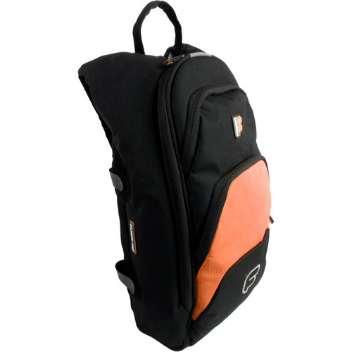 "Fusion-Bags Premium Medium ""Fuse-on"" Backpack (Black/Orange)"
