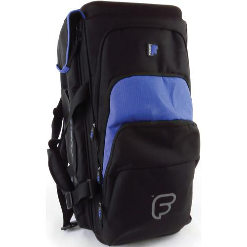 Fusion-Bags Premium Triple Trumpet Gig Bag (Black/Blue)