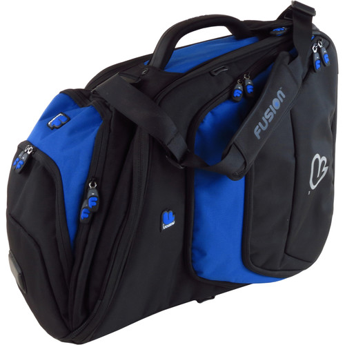 Fusion-Bags Premium French Horn Pro Fixed-Bell Gig Bag (Black/Blue)
