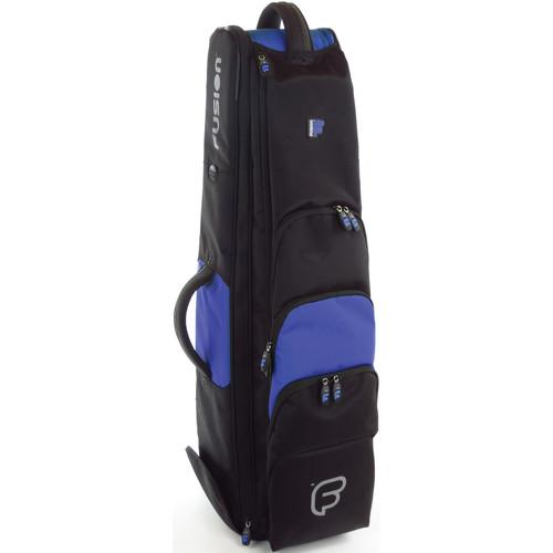 "Fusion-Bags Premium 8.5"" Jazz Trombone Gig Bag (Black/Blue)"