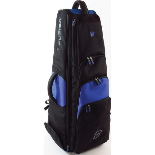 Fusion-Bags Premium 10.5 Bass Trombone Gig Bag (Black/Blue)
