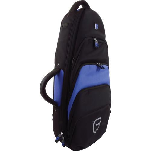 Fusion-Bags Premium Soprano or Concert Ukulele Gig Bag (Black/Blue)