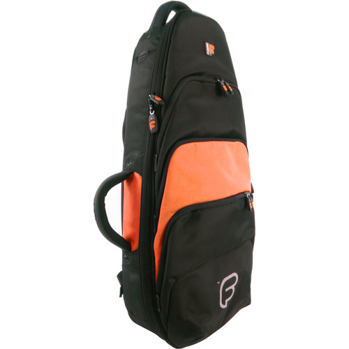 Fusion-Bags Premium Tenor Ukulele or Mandolin Gig Bag (Black/Orange)
