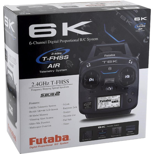 Futaba T6K 8-Channel RC Helicopter System Transmitter with R3001SB Receiver