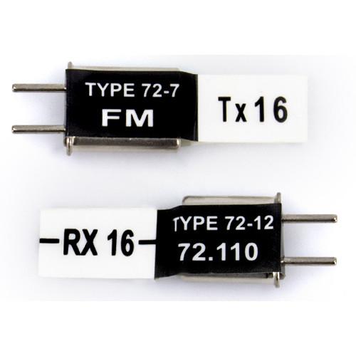 Futaba FM 72.57 MHz Short Crystal Set (TX Crystal & Short RX Crystal)