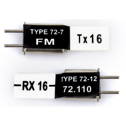 Futaba FM 72.63 MHz Short Crystal Set (TX Crystal & Short RX Crystal)