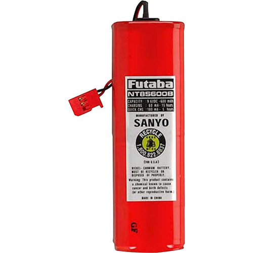 Futaba FNT8S600B  9.6 V 600 mAh NiCd Battery