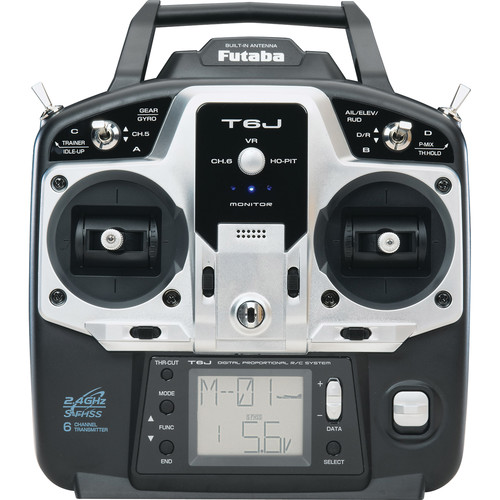 Futaba 6J 6-Channel, 2.4 GHz Computer Radio with R2006GS Receiver