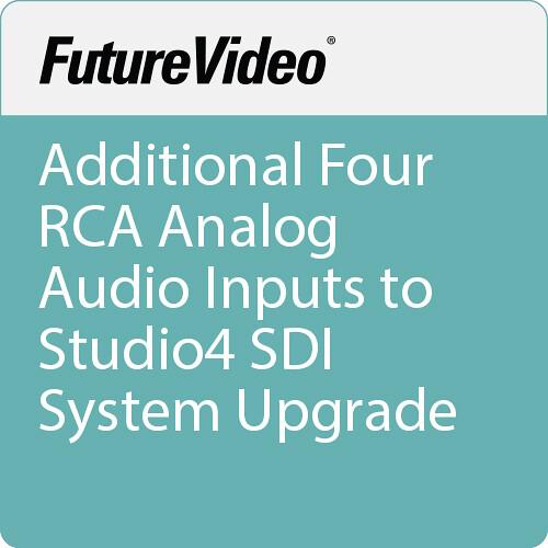 FutureVideo Additional Four RCA Analog Audio Inputs to Studio4 SDI System Upgrade