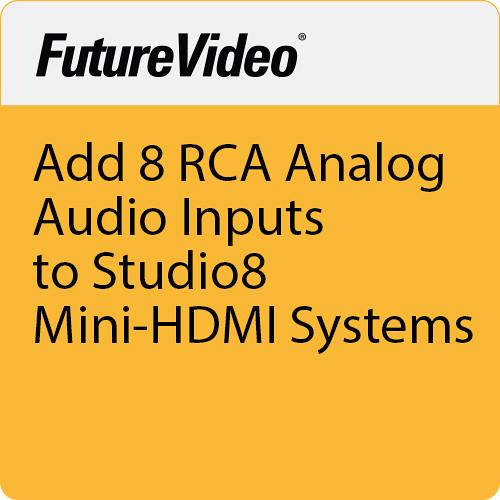FutureVideo Add 8 RCA Analog Audio Inputs To Studio8 Mini-HDMI  Systems